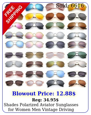 shades polarized aviator sunglasses women men vintage driving mirrored cas