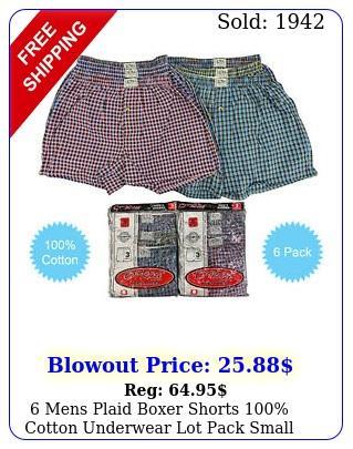 mens plaid boxer shorts cotton underwear lot pack small medium large x