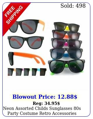 neon assorted childs sunglasses s party costume retro accessories bulk lo