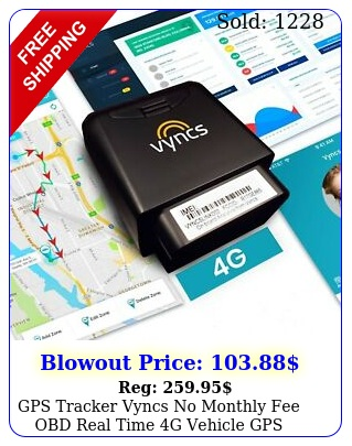 gps tracker vyncs no monthly fee obd real time g vehicle gps tracking trip fue