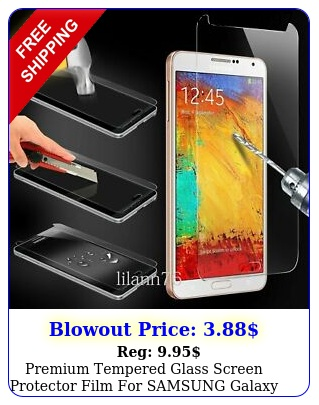 premium tempered glass screen protector film samsung galaxy not