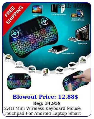 g mini wireless keyboard mouse touchpad android laptop smart t