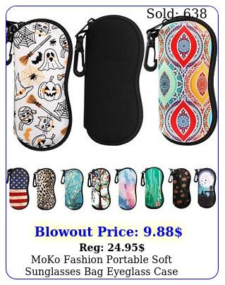moko fashion portable soft sunglasses bag eyeglass case neoprene pouch storag