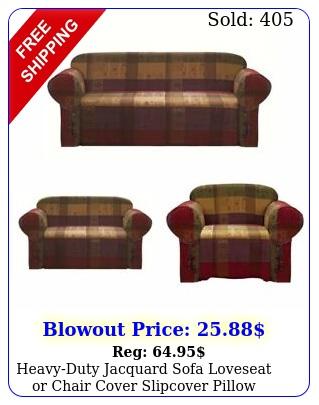 heavyduty jacquard sofa loveseat or chair cover slipcover pillow cushion cove