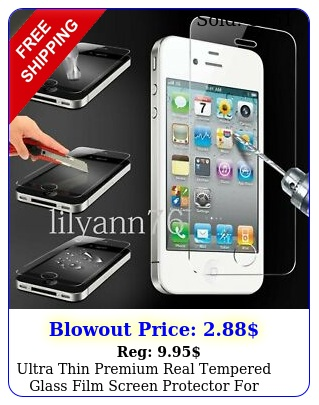 ultra thin premium real tempered glass film screen protector iphone