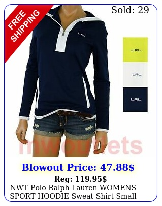 nwt polo ralph lauren womens sport hoodie sweat shirt smal