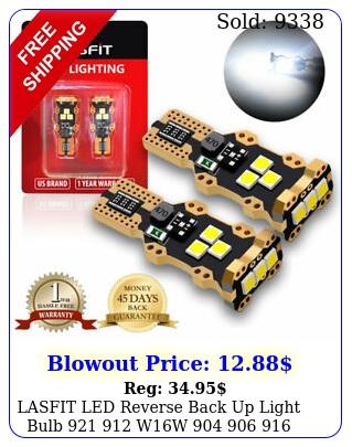 lasfit led reverse back up light bulb  ww  super white