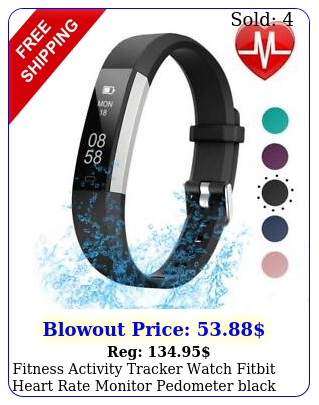 fitness activity tracker watch fitbit heart rate monitor pedometer black androi