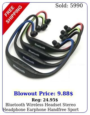 bluetooth wireless headset stereo headphone earphone handfree sport universa