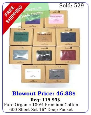 pure organic premium cotton sheet set deep pocket bedding cove