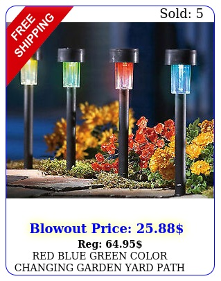 red blue green color changing garden yard path solar light stakes lighting deco