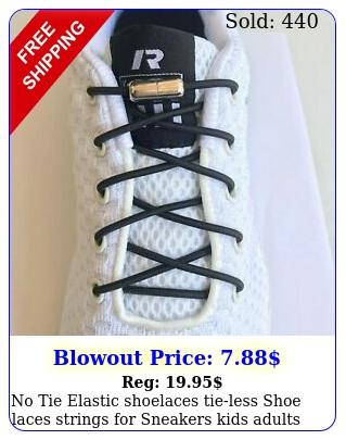 no tie elastic shoelaces tieless shoe laces strings sneakers kids adult