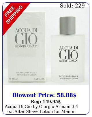 acqua di gio by giorgio armani oz after shave lotion men in seale