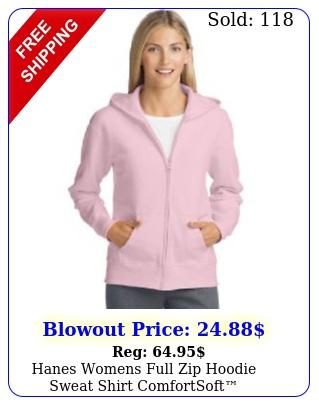 hanes womens full zip hoodie sweat shirt comfortsoft ecosmart color