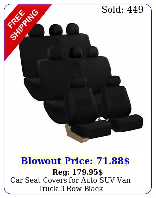 car seat covers auto suv van truck row blac