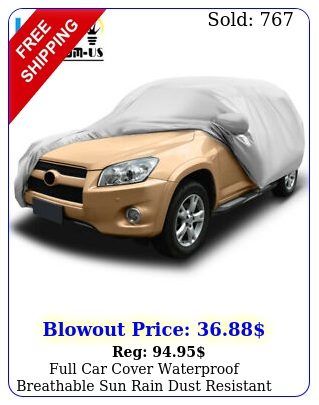 full car cover waterproof breathable sun rain dust resistant protection silve