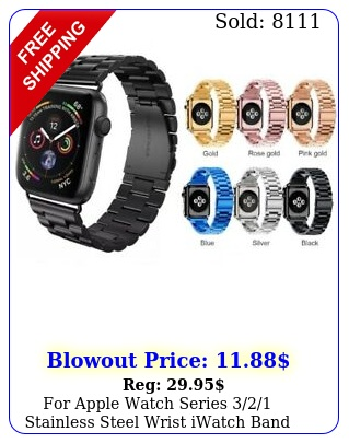 apple watch series stainless steel wrist iwatch band strap m