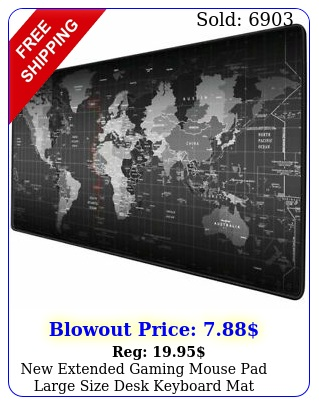 extended gaming mouse pad large size desk keyboard mat mm x m
