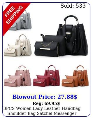 pcs women lady leather handbag shoulder bag satchel messenger purse tote se