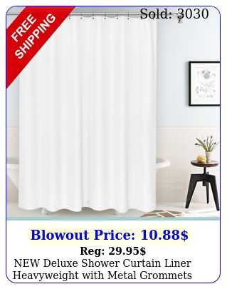 deluxe shower curtain liner heavyweight with metal grommets x