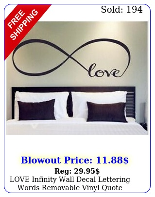 love infinity wall decal lettering words removable vinyl quote stickers bedroo