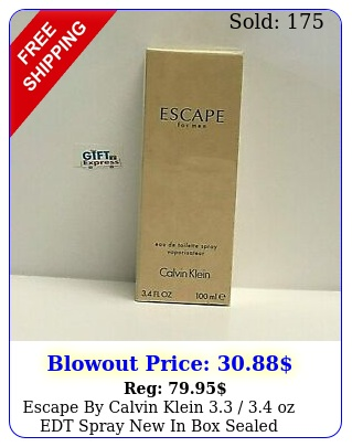 escape by calvin klein  oz edt spray in sealed cologne me