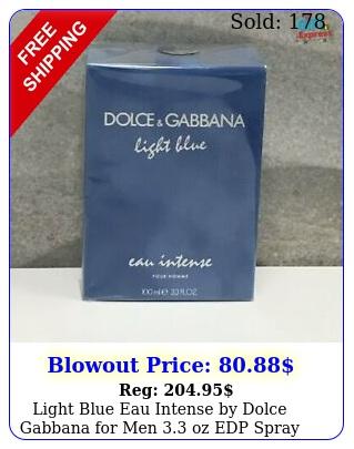 light blue eau intense by dolce gabbana men oz edp spray bran