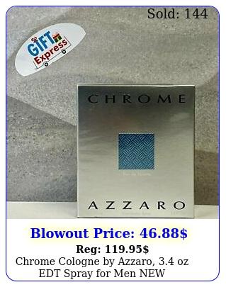 chrome cologne by azzaro oz edt spray men ne
