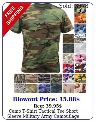 camo tshirt tactical tee short sleeve military army camouflage uniform fashio