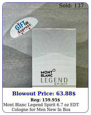 mont blanc legend spirit oz edt cologne men in bo