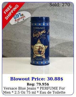 versace blue jeans perfume men  oz ml eau de toilette in ca