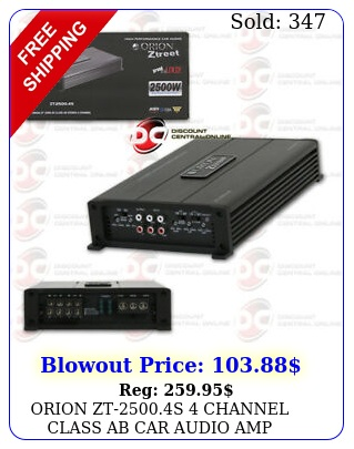 orion zts channel class ab car audio amp amplifier watts rm