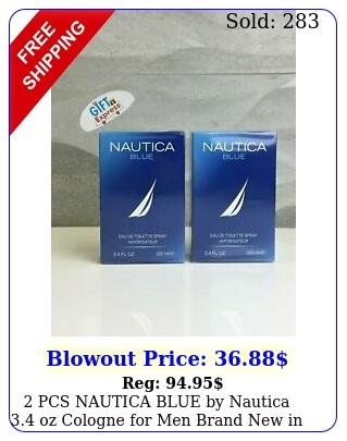 pcs nautica blue by nautica oz cologne men brand in ed