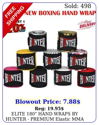 elite hand wraps by hunter premium elastic mma boxing hand wraps wris
