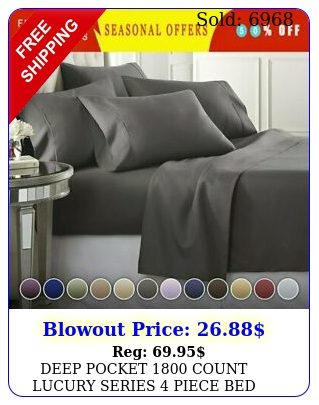 deep pocket count lucury series piece bed super soft sheet set most size