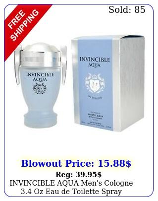 invincible aqua men's cologne oz eau de toilette spra
