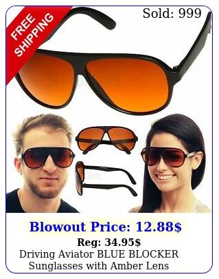 driving aviator blue blocker sunglasses with amber len