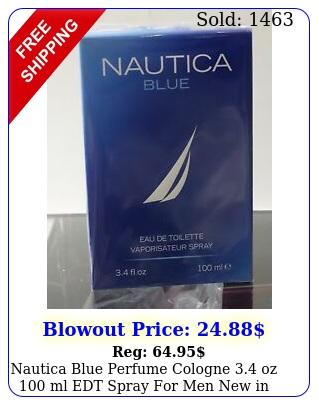 nautica blue perfume cologne oz ml edt spray men in seale