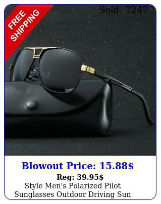 style men's polarized pilot sunglasses outdoor driving sun glasses sport eyewea