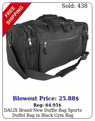 dalix brand duffle bag sports duffel bag in black gym ba