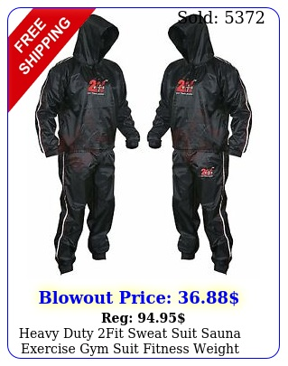 heavy duty fit sweat suit sauna exercise gym suit fitness weight loss anti ri