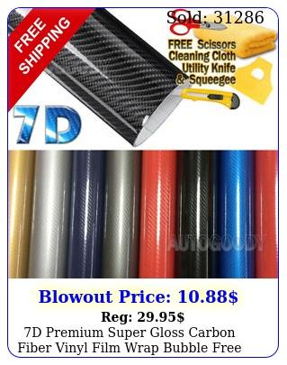 d premium super gloss carbon fiber vinyl film wrap bubble free air release