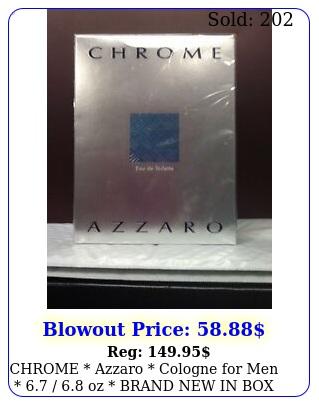 chrome azzaro cologne men   oz brand in seale