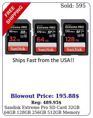 sandisk extreme pro sd card gb gb gb gb gb memory card canon niko