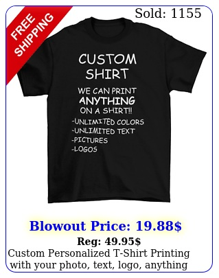 custom personalized tshirt printing with your photo text logo anythin
