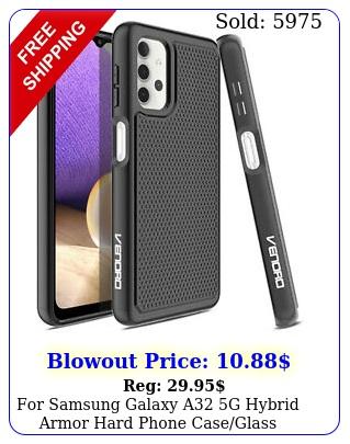 samsung galaxy a g hybrid armor hard phone caseglass screen protecto