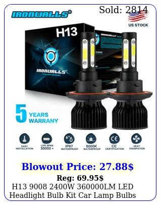 h w lm led headlight bulb kit car lamp bulbs hilo white