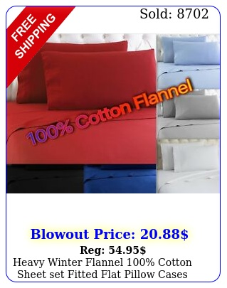 heavy winter flannel cotton sheet set fitted flat pillow cases deep pocke