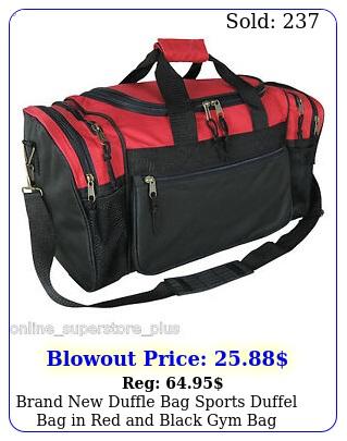 brand duffle bag sports duffel bag in red black gym ba