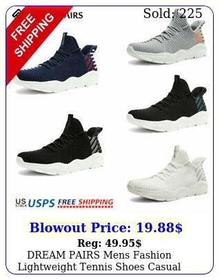 dream pairs mens fashion lightweight tennis shoes casual running jogging sneake